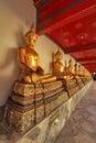 Buddha i wat pho temple bangkok thailand Arkivbild