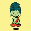 Buddha illustration of nice meditating Stock Image