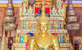 Buddha image of the bronze statue in temple at prae thailand Stock Images