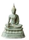 Buddha image the bronze on white isolation Stock Image