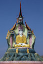 Buddha image monywa myanmar burma a protected by nagas mythical dragon like creatures near in Royalty Free Stock Images