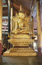 Buddha image at nga phe chaung monastery myanmar shan state lake inle is an attractive wooden built on Stock Images