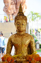 Buddha image Phra Phuttha Sothon or Luang Pho Sothon at Wat Bot Temple Royalty Free Stock Photo