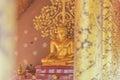 Buddha image in Sirindhorn Wararam Phu Prao Temple Wat Phu Prao Thailand.