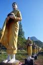 Buddha image statue burma style at tai ta ya monastery or sao roi ton temple of payathonsu in the south of kayin state myanmar Stock Photos