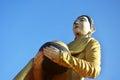 Buddha image statue burma style at tai ta ya monastery or sao roi ton temple of payathonsu in the south of kayin state myanmar Royalty Free Stock Photography