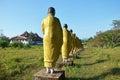 Buddha image statue burma style at tai ta ya monastery or sao roi ton temple of payathonsu in the south of kayin state myanmar Stock Images