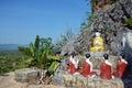 Buddha image statue burma style at tai ta ya monastery or sao roi ton temple of payathonsu in the south of kayin state myanmar Royalty Free Stock Photos