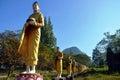 Buddha image statue at tai ta ya monastery or sao roi ton temple myanmar wat sao roi ton burmese temple myanmar is next to sathani Stock Photo