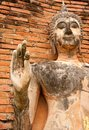 Buddha image in Sukhothai historical park Royalty Free Stock Photography