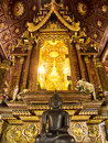 Buddha image thailand temple decoration Royalty Free Stock Photography