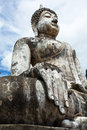 Buddha image at wat trapang ngoen in sukhothai historical park lord was respectfully engaged placed an ancient temple called Royalty Free Stock Photography