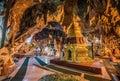 Buddha images inside the  Shwe Umin Pagoda Paya,  Myanmar Royalty Free Stock Photo