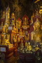 Buddha Images in Pindaya Cave - Pindaya - Myanmar Royalty Free Stock Photos