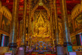 Buddha images province phitsanulok of thailand Stock Photography