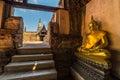 Buddha imgae in ruin temple Royalty Free Stock Photo