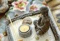 Buddha meditating decoration Royalty Free Stock Photo