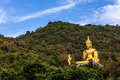 Buddha in the mountain ther is an Royalty Free Stock Photos