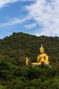 Buddha in the mountain ther is an Stock Image