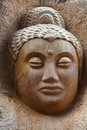 Buddha Old Carving Stock Photography