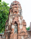 Buddha old temple in ayutthaya thailand Stock Images