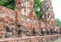 Buddha old temple in ayutthaya thailand Royalty Free Stock Photos