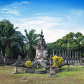 Buddha park tourist attraction and public park in vientiane laos Stock Photos