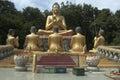Buddha phnom pros kompong cham cambodia statue at wat in kampong Royalty Free Stock Photography