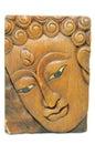 Buddha portrait souvenir wooden carving of thailand Stock Photos