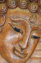 Buddha portrait souvenir wooden carving of thailand Stock Images