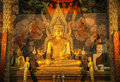 Buddha of prathat chohae phare thailand Royalty Free Stock Images