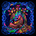 Buddha is a psychedelic painting