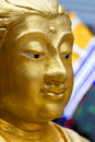 Buddha's face in the Grand Palace in Bangkok Stock Photos