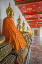 Buddha s in wat pho temple bangkok thailand golden the Stock Images