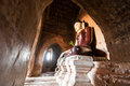 Buddha sculpture in Bagan Royalty Free Stock Images
