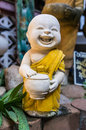 Buddha sculpture funny little for decoration Royalty Free Stock Photos