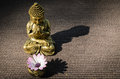 Buddha and shadow Royalty Free Stock Photos