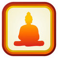 Buddha silhouette ilustration. Stock Photography