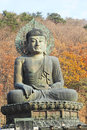 Buddha in the sinheungsa temple at seoraksan national park sout south korea Stock Photos