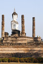 Buddha Sitting in Ruins Stock Image