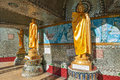 Buddha statue around Kaba Aye Pagoda in Rangoon, Myanmar Royalty Free Stock Photos