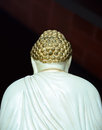Buddha statue back the of seen from behind Royalty Free Stock Photography