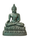Buddha statue the black in meditated position Royalty Free Stock Photo