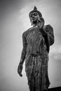 Buddha Statue in Black and White, HDR Royalty Free Stock Photo