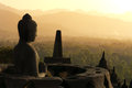 Buddha Statue in Borobudur, Java, Indonesia Stock Images