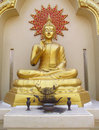 Buddha statue in Buddhist temple Royalty Free Stock Photo