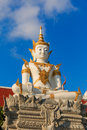 Buddha statue a of in a buddhist temple thailand Stock Photography