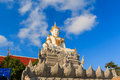 Buddha statue a of in a buddhist temple thailand Stock Photos