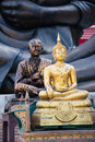 Buddha statue a of in a buddhist temple thailand Royalty Free Stock Image