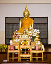 Buddha statue in church Stock Photos